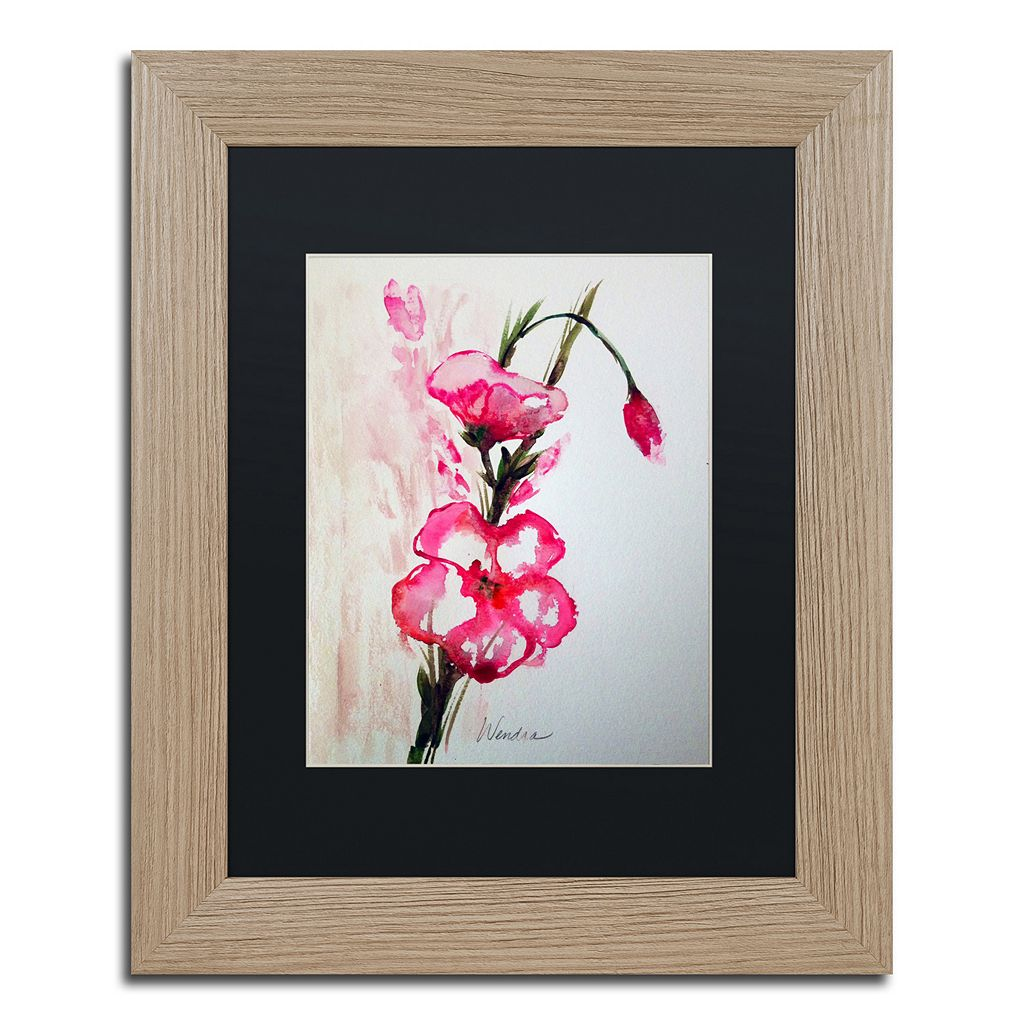Trademark Fine Art New Bloom Distressed Framed Wall Art