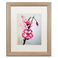 Trademark Fine Art New Bloom Distressed Framed Wall Art