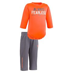 Newborn Baby Boy Under Armour 'Always Fearless' Long-Sleeved Bodysuit & Pants Set