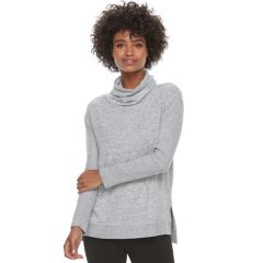 Womens Grey Cowlneck Sweaters - Tops, Clothing | Kohl's
