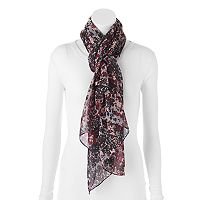 Apt. 9® Marbled Floral Chiffon Oversized Oblong Scarf