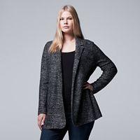 Plus Size Simply Vera Vera Wang Simply Separates Marled Blazer
