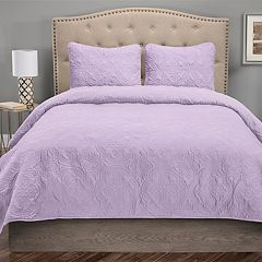 Grand Collection Fiona Microfiber Quilt Set
