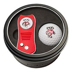 Team Golf Wisconsin Badgers Switchfix Divot Tool & Golf Ball Set