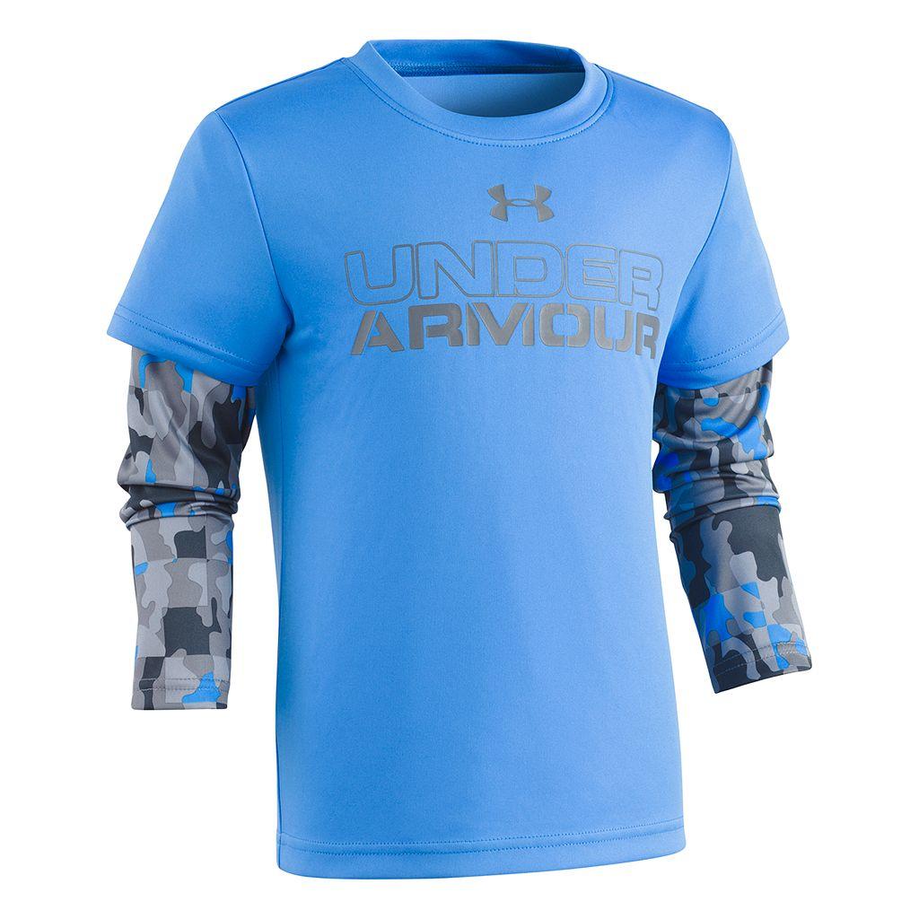 Boys 4-7 Under Armour Camo Mock-Layer Logo Tee