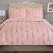 Grand Collection Paris Microfiber Quilt Set