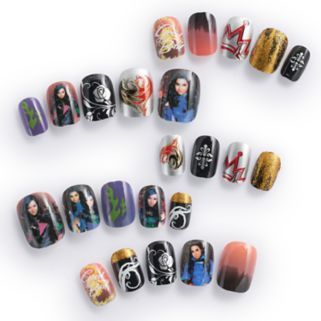 Disney's Descendants Girls 6-12 Press-On Nail Kit