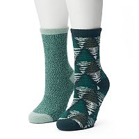 Women's SONOMA Goods for Life™ 2-pk. Trees & Marled Gripper Slipper Socks
