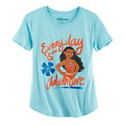 Disney's Moana 'Everyday is an Adventure' Girls 7-16 & Plus Size Graphic Tee