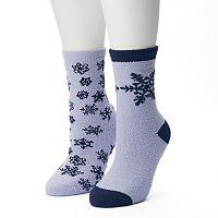 Women's SONOMA Goods for Life™ 2-pk. Snowflakes Gripper Slipper Socks