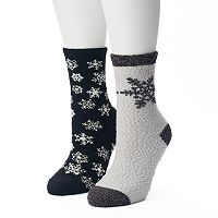 Women's SONOMA Goods for Life™ 2-pk. Snowflakes Gripper Slipper Socks