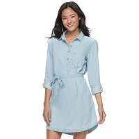 Juniors' SO® Chambray Shirt Dress