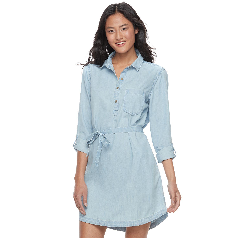 so chambray shirt dress