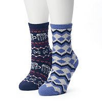 Women's SONOMA Goods for Life™ 2-pk. Mugs & Zig Zag Gripper Slipper Socks