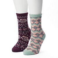 Women's SONOMA Goods for Life™ 2-pk. Mugs & Zig Zag Gripper Slipper Socks