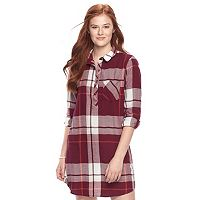 Juniors' SO® Plaid Shirt Dress