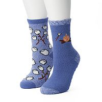 Women's SONOMA Goods for Life™ 2-pk. Campfire Gripper Slipper Socks