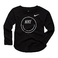 Toddler Girl Nike Smiley Long-Sleeved Tee