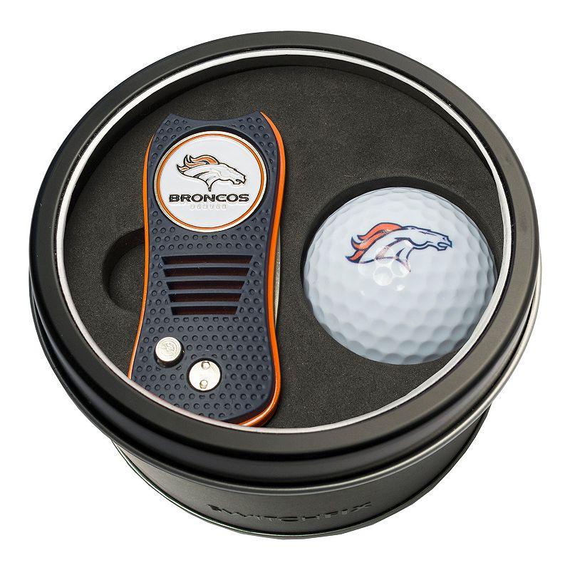 Team Golf Denver Broncos Switchfix Divot Tool & Golf Ball Set. Multicolor