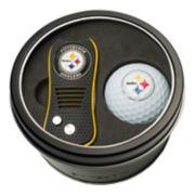 Team Golf Pittsburgh Steelers Switchfix Divot Tool & Golf Ball Set