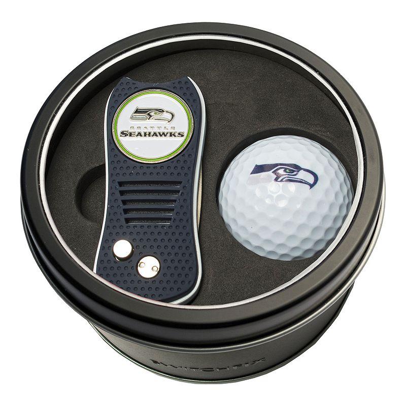 Team Golf Seattle Seahawks Switchfix Divot Tool & Golf Ball Set. Multicolor