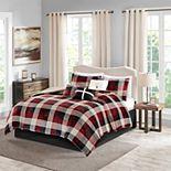 Madison Park 7-piece Buffalo Check Plush Comforter Set