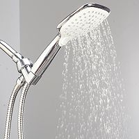 Bath Bliss Atlas 3-Function Rain Showerhead & Cord Set