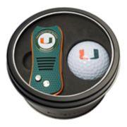 Team Golf Miami Hurricanes Switchfix Divot Tool & Golf Ball Set