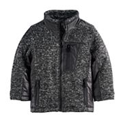 Toddler Boy Urban Republic Mélange Puffer Marled Midweight Jacket