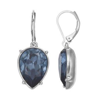 Simply Vera Vera Wang Inverted Nickel Free Blue Teardrop Earrings