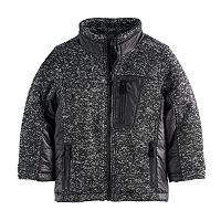 Baby Boy Urban Republic Mélange Puffer Marled Midweight Jacket