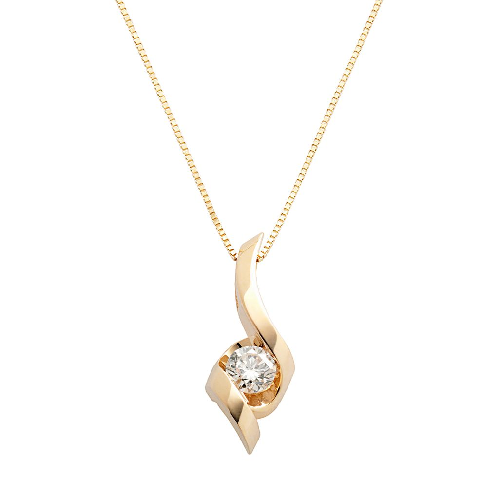 Sirena Collection 14k Gold 1/3-ct. T.W. Diamond Pendant