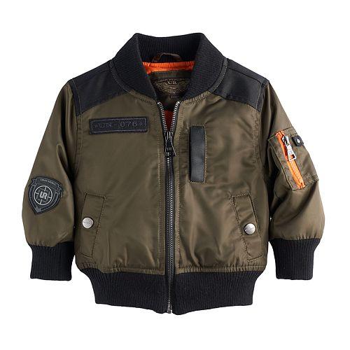 Baby Boy Urban Republic Twill Bomber Lightweight Jacket