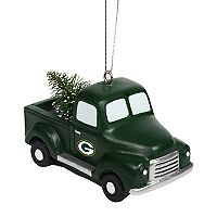 FOCO Green Bay Packers Truck Christmas Ornament