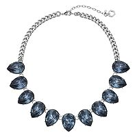 Simply Vera Vera Wang Inverted Blue Teardrop Statement Necklace