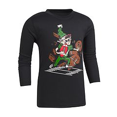 Boys 4-7 Under Armour Elf & Gingerbread Man Football Graphic Tee