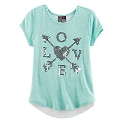 Girls 7-16 Miss Chievous Bow Back Tulip Hem Hatchi Top