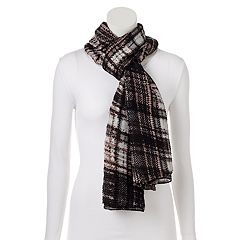Apt. 9® Plaid Pleated Oblong Scarf