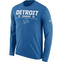 Men's Nike Detroit Lions Legend Staff Dri-FIT Long-Sleeve Tee