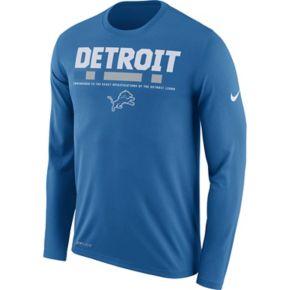 Men's Nike Detroit Lions Legend Staff Dri-FIT Long-Sleeve Tee