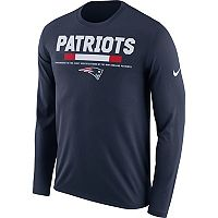 Men's Nike New England Patriots Legend Staff Dri-FIT Long-Sleeve Tee