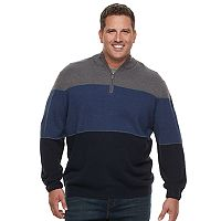 Big & Tall Dockers Classic-Fit Colorblock Quarter-Zip Sweater
