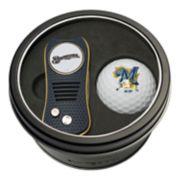 Team Golf Milwaukee Brewers Switchfix Divot Tool & Golf Ball Set