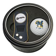 Team Golf Milwaukee Brewers Switchfix Divot Tool & Golf Ball Set