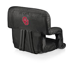 Picnic Time Oklahoma Sooners Ventura Portable Recliner Chair