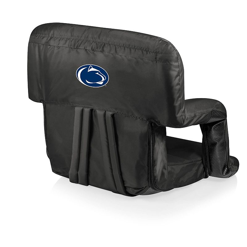 Picnic Time Penn State Nittany Lions Ventura Portable Recliner Chair. Black