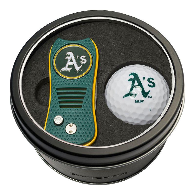Team Golf Oakland Athletics Switchfix Divot Tool & Golf Ball Set. Multicolor