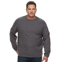 Big & Tall Dockers Classic-Fit Cable-Knit Easy-Care Crewneck Sweater