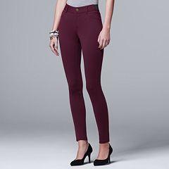 Petite Simply Vera Vera Wang Skinny Ponte Pants