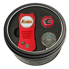 Team Golf Calgary Flames Switchfix Divot Tool, Cap Clip & Ball Marker Set
